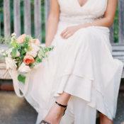 Bride in Black Shoes