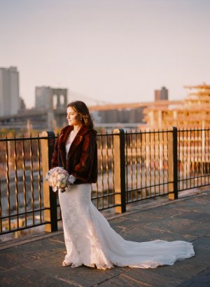 Bride with Brooklyn Skyline