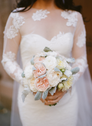 Bride with Peony Bouquet