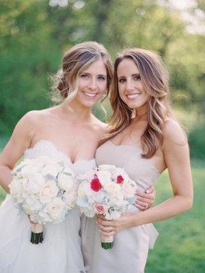 Bridesmaid in Taupe Dresses