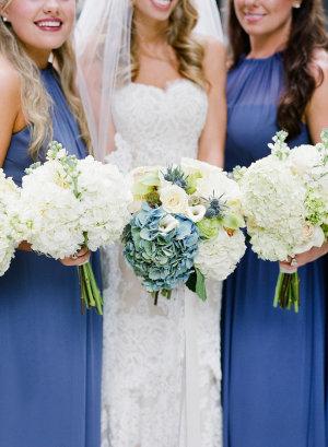 Bridesmaids in Cornflower Blue