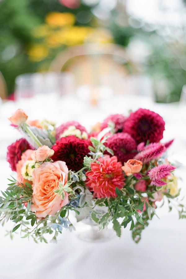 Burgundy And Peach Wedding Flowers