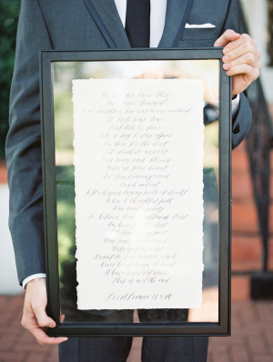 Calligraphy Wedding Verse