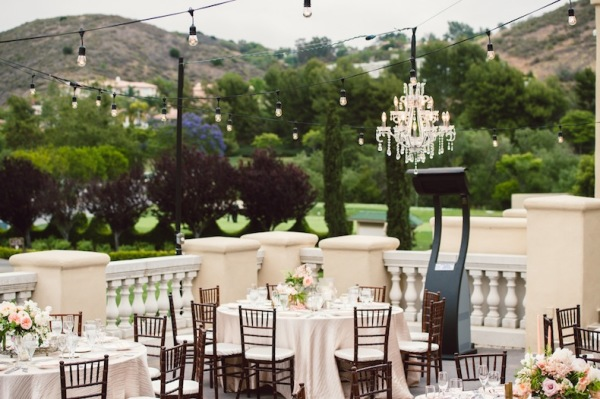 Chandeliers at Outdoor Wedding