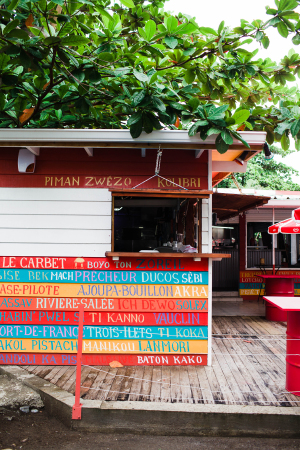 Colorful Cafe in Martinique