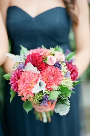 Coral Bridesmaids Bouquet