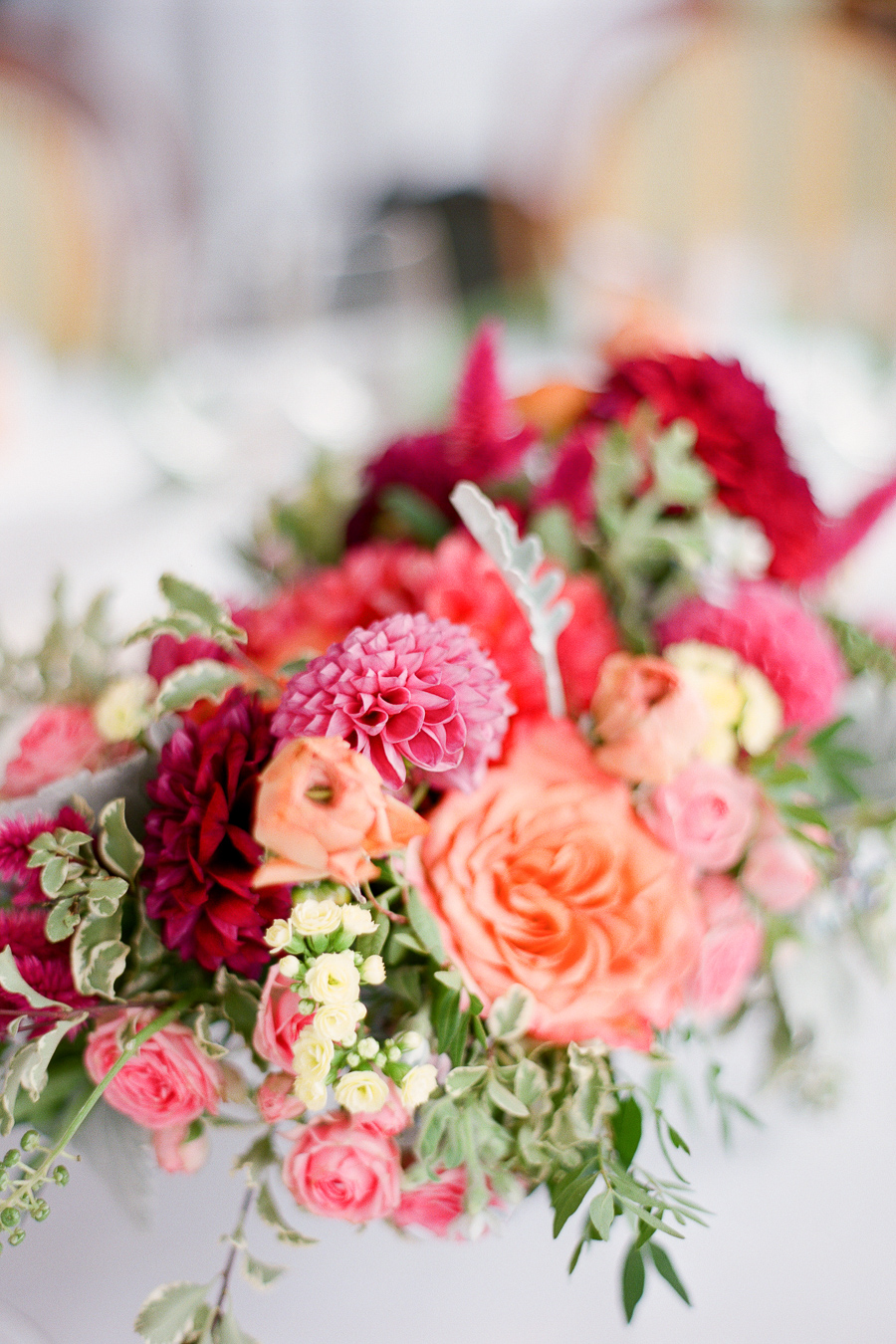 Coral Pink and Red Wedding Flowers - Elizabeth Anne ...