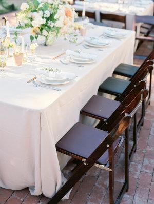 Dark Wood Wedding Chairs
