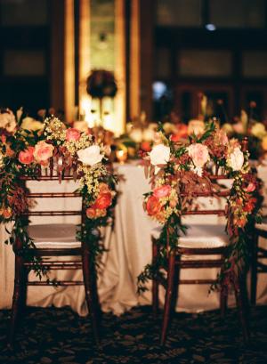 Floral Garland Chair Decor
