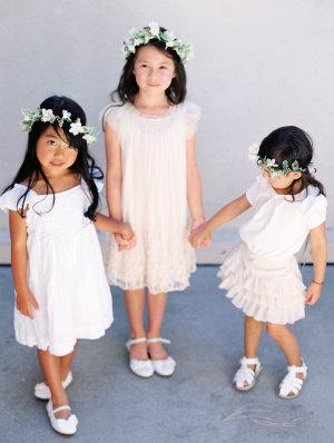 Flower Girls in White
