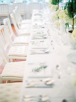Fresh White Wedding Reception