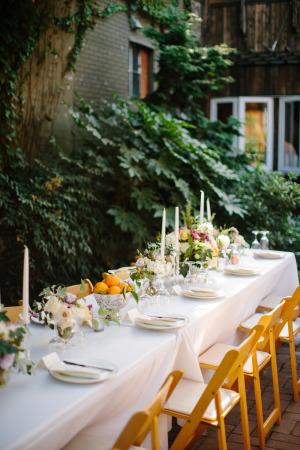 Garden Centerpiece with Oranges