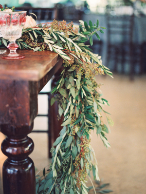Garland of Greenery on Table