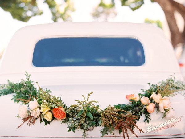 Getaway Car with Floral Garland