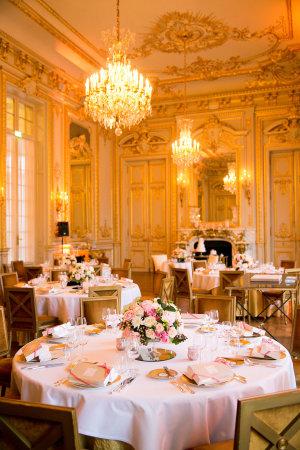 Gold Ballroom Wedding Reception