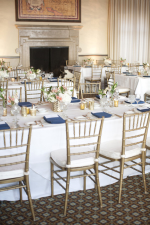 Gold and Blue Wedding Reception