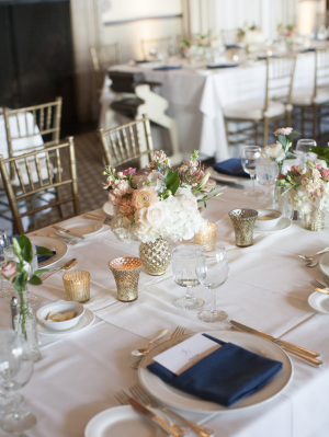 Gold and Ivory Reception with Navy