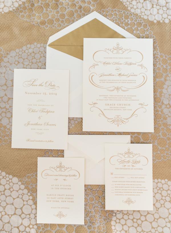Gold and White Wedding Invitations - Elizabeth Anne Designs: The ...