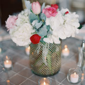 Gray and Pink Wedding Flowers
