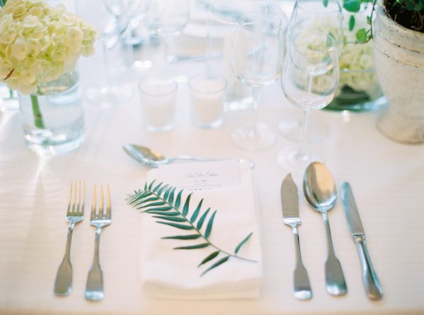 Greenery at Place Setting