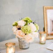 Hydrangea and Rose Posy Centerpiece