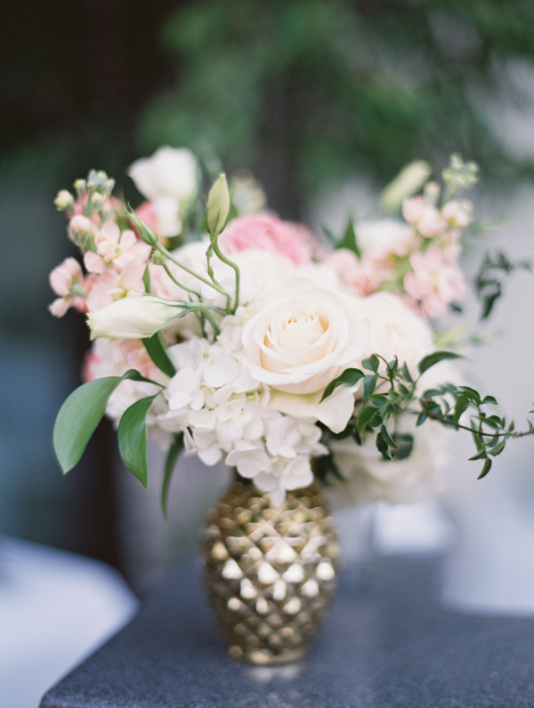 Ivory Flowers In Gold Bud Vase Elizabeth Anne Designs The Wedding