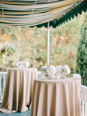 Ivory and Taupe Centerpieces