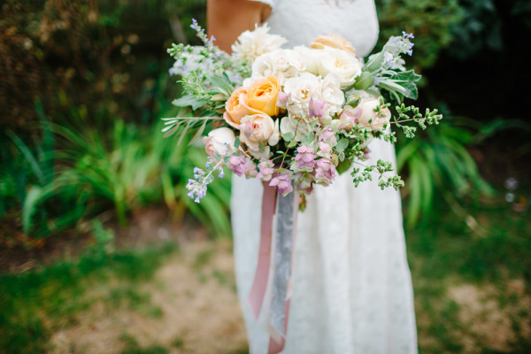 Lavender and Pale Yellow Bouquet