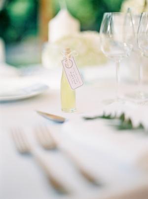 Limoncello Wedding Favors