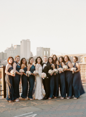 Long Navy Bridesmaids Dresses