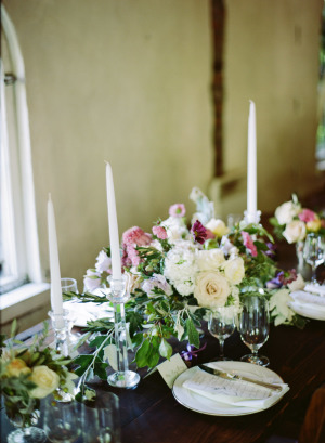 Mauve and Ivory Wedding Flowers