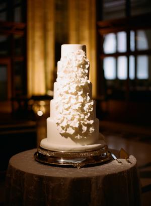 Modern White Wedding Cake
