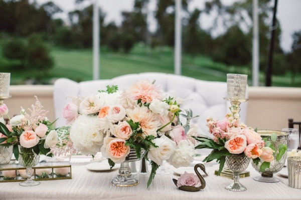 Peach and Blush Centerpiece