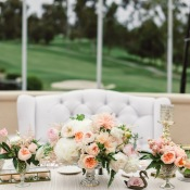 Peach and White Centerpiece
