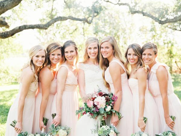 Pink Ann Taylor Bridesmaids Dresses