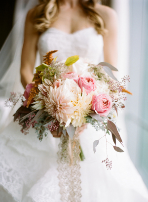 Pink Bouquet with Dahlias