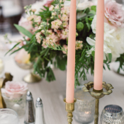 Pink Taper Candles