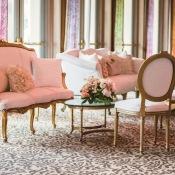 Pink Wedding Lounge Area