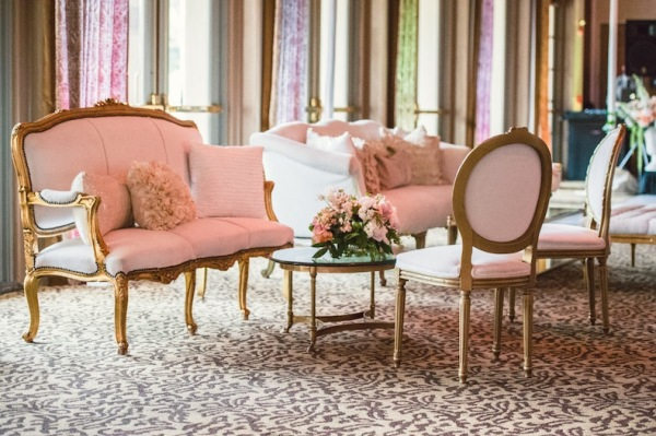 Pink Wedding Lounge Area