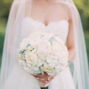 Round Ivory Wedding Bouquet