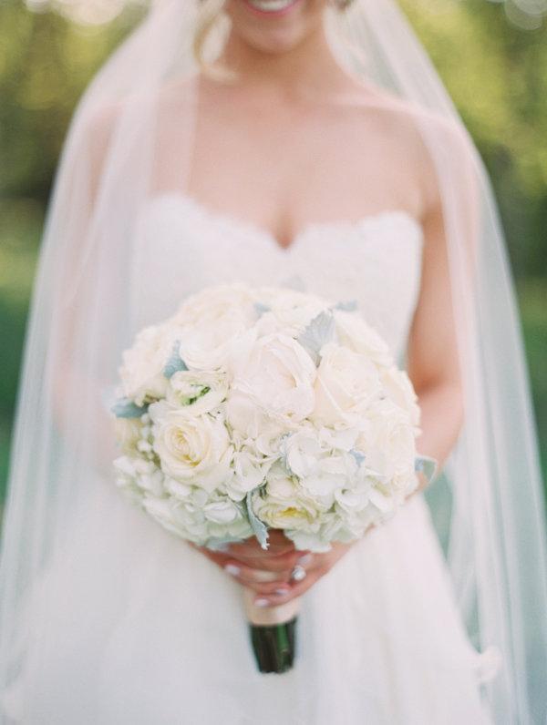 Round Ivory Wedding Bouquet Elizabeth Anne Designs The
