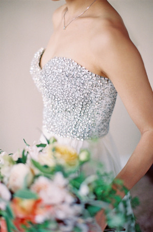 Sarah Seven Crystal Bodice Gown