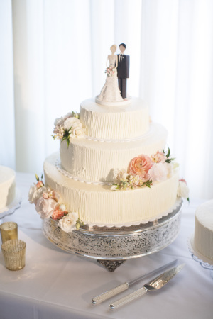 Simple Wedding Cake with Custom Topper