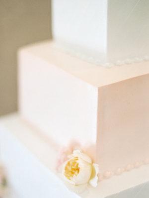 Square Watercolor Wedding Cake