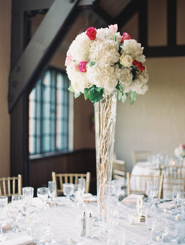 Tall Centerpieces with Hydrangea