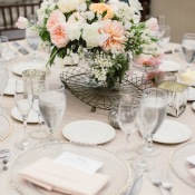 Taupe and Blush Centerpiece