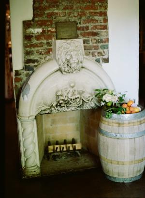 Wedding Decor with Oranges