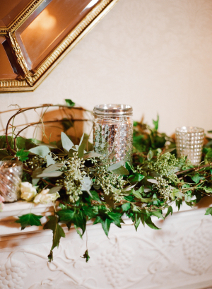 Wedding Mantel with Greenery