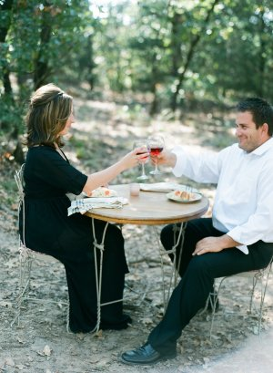 Al Fresco Dining Engagement Session