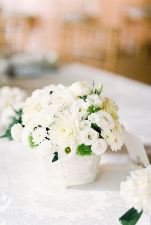 All White Wedding Centerpiece